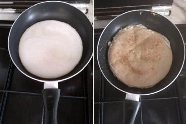 タンパク質が豊富なクレープ