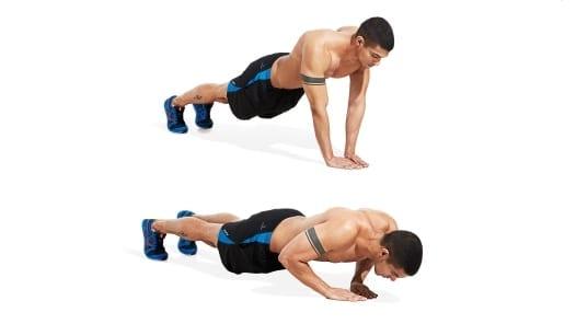 flexões curtas