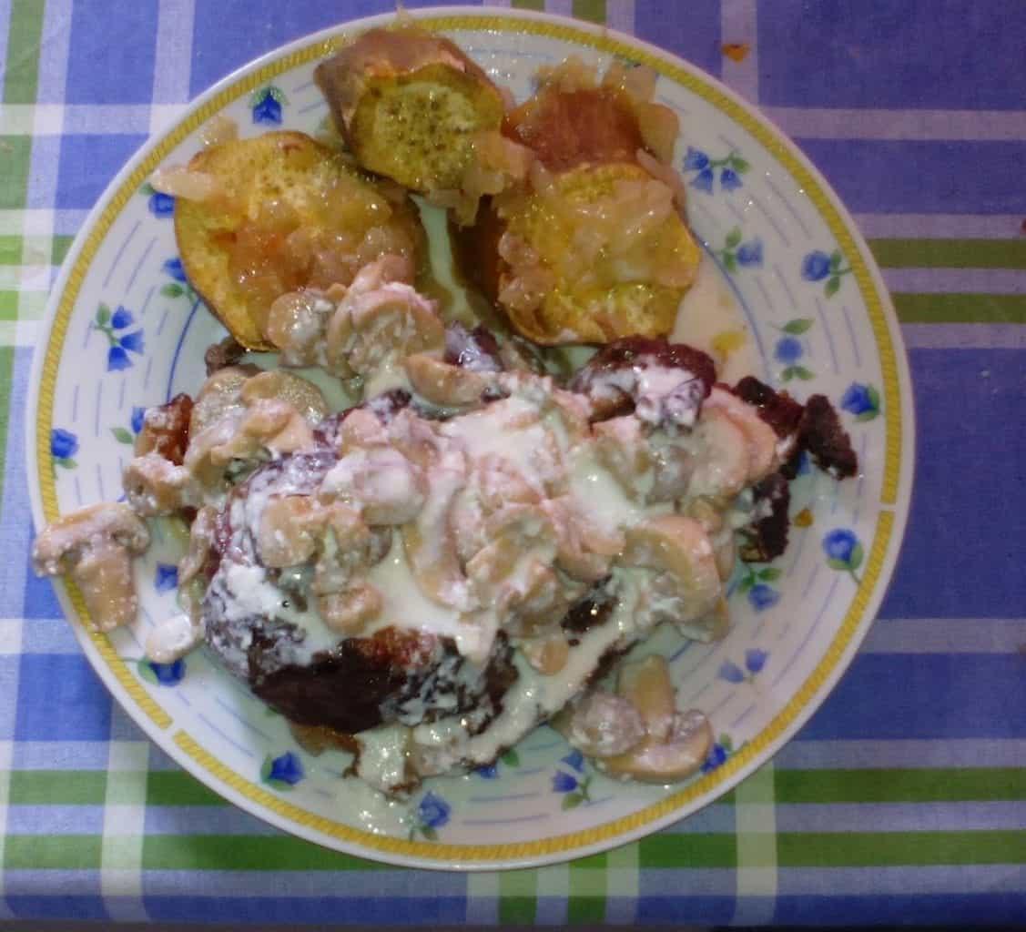 Patata dolce con bistecca di Vasco