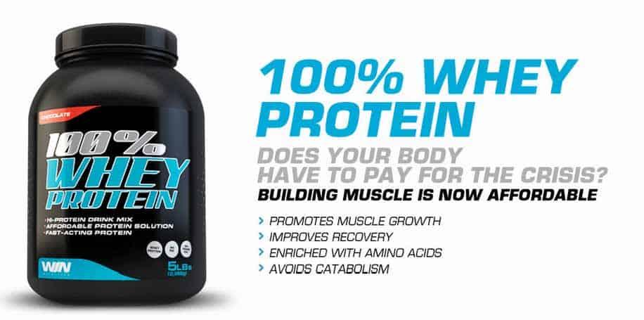 vincere proteine del siero di latte di nutrizione