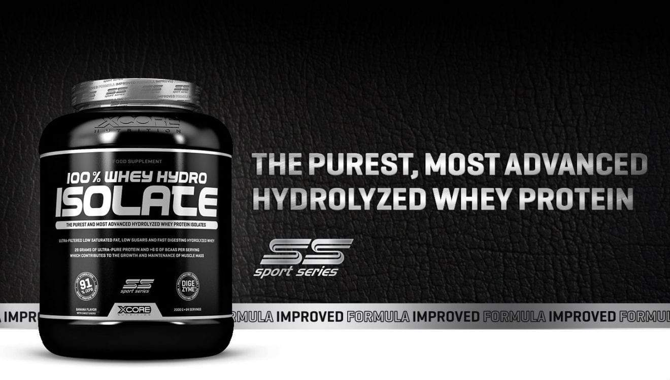 xcore 100% whey hydro isolate sport series
