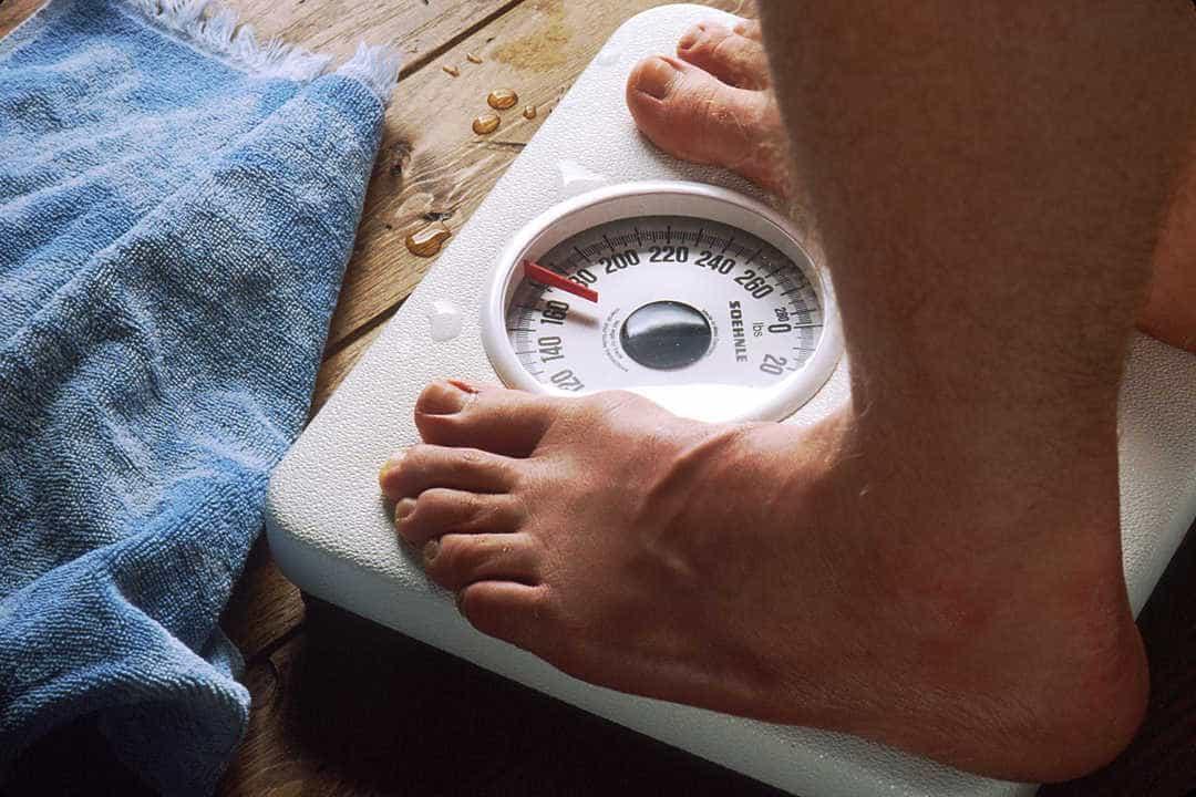 peso na balança