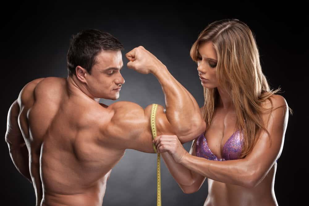 medição da massa muscular no bícep