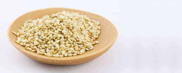 sementes de sésamo magnésio