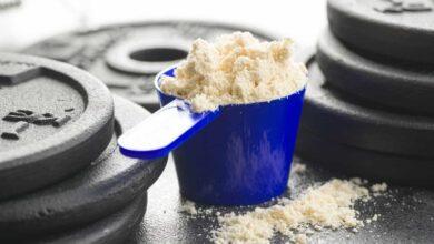 Proteinne en poudre.