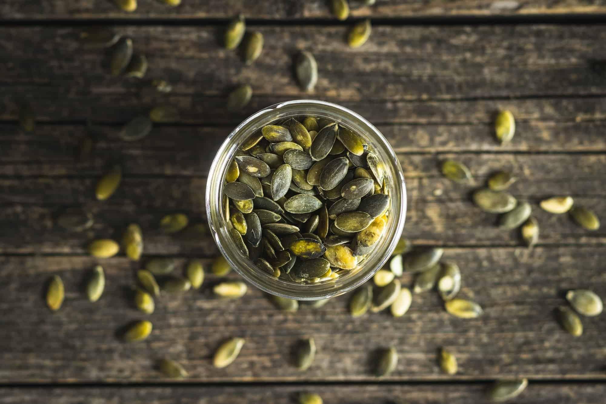semillas de calabaza de magnesio