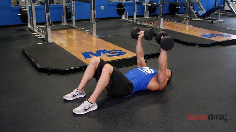 press on the floor gymnastics chest