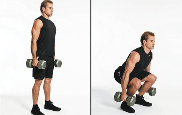 squat avec haltères