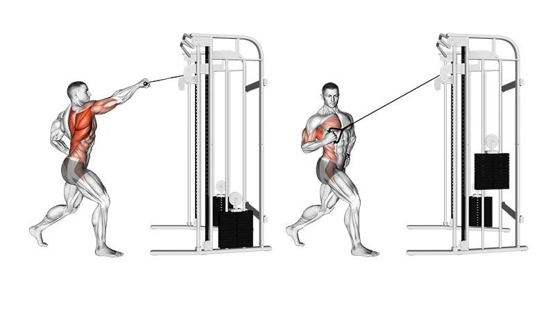 High row on alternating pulley